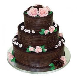 3 Tier Chocolate Creamy Cake - 5 KG