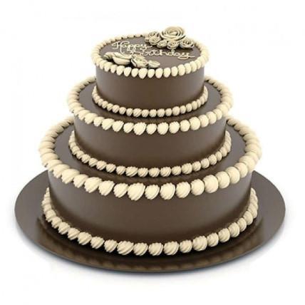 3 Tier Creamy Truffle Cake - 5 KG