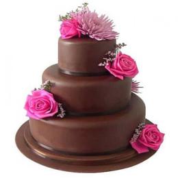 3 Tier Fondant Truffle Cake - 5 KG