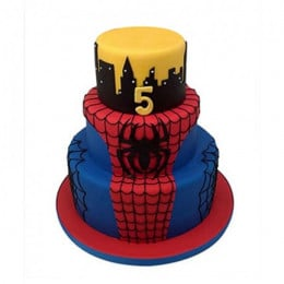 3 Tier Spiderman Web Cake - 5 KG
