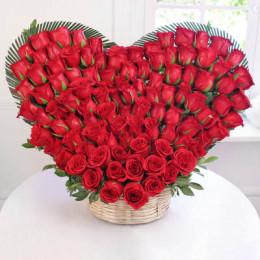 75 Roses Heart