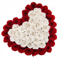 Red N White Floral Heart