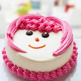 Sweet Little Girl Cake - 500 Gm