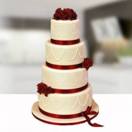 Wedding Rose Cake - 8 KG