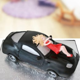 Lady On Car Cake - 2 KG