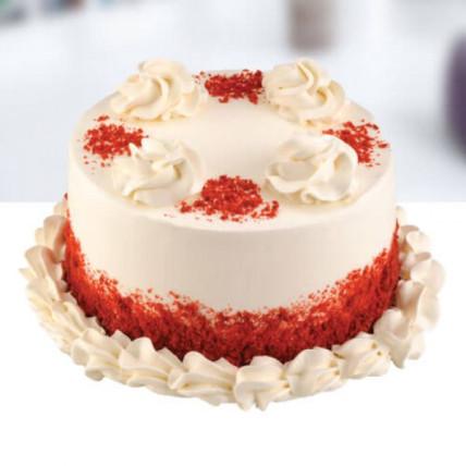 Creamy Swirl Red Cake - 500 Gm