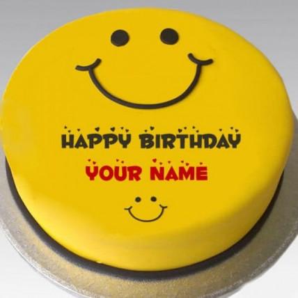 Smiley Birthday Cake - 500 Gm