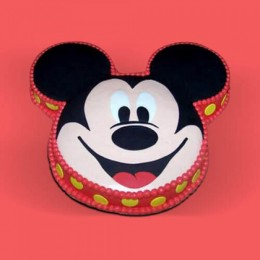 Soft Mickey Face Cake - 1 KG