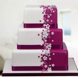 Flowery Delight Fondant Cake - 6 KG