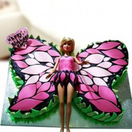 Butterfly Barbie Cake - 2 KG