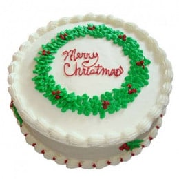 White Merry Christmas Cake - 500 Gm