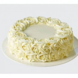 White Rose Cake - 500 Gm