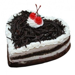 Heart Shape Blackforest - 500 Gm
