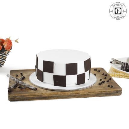 Choco Vanilla Chess Cake-500 Gms
