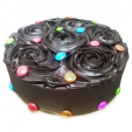 Chocolate Flower Cake - 500 Gm