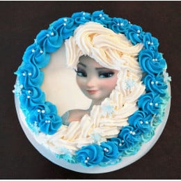 Elsa Doll Cake-500 Gm