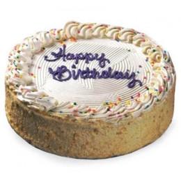 Round Shape Vanilla Cake - 500 Gm