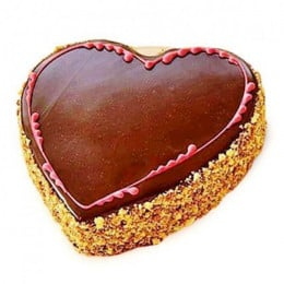 Chocolaty Heart Cake - 500 Gm