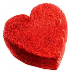 Red Velvet Heart Cake - 500 Gm