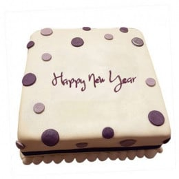 Happy New Year Fondant Cake - 500 Gm