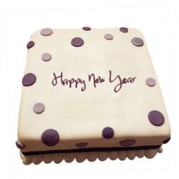 Happy New Year Fondant Cake - 500 Gm