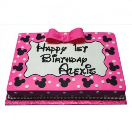Pink Minnie Mouse Delight Cake - 500 Gm