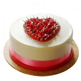 Desirable Rose Cake - 500 Gm