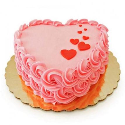 Floating Hearts Cake - 500 Gm