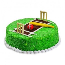 Cricket Pitch Cake - 500 Gm