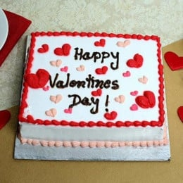 Happy Valentines Day Cake - 500 Gm