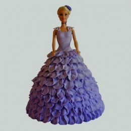 Dazzling Blue Barbie Cake - 2 KG