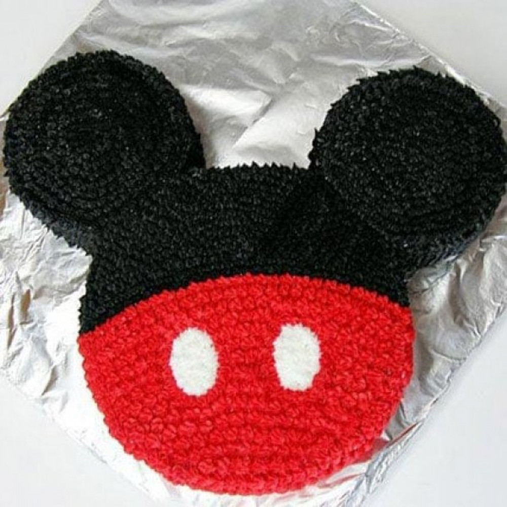Red N Black Mickey Mouse Cake - 2 KG
