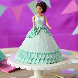 Cool Blue Barbie Cake - 2 KG