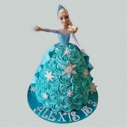 Blue Roses Barbie Cake - 2 KG