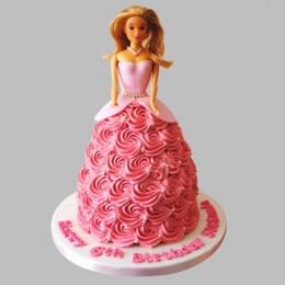 Flamboyant Barbie Cake - 2 KG