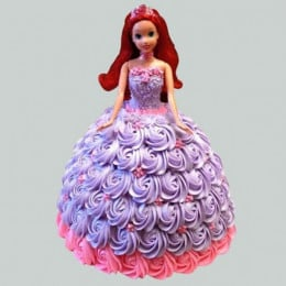 Barbie In Floral Roses Cake - 2 KG