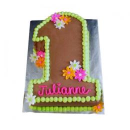Chocolaty 1St Birthday Cake - 2 KG