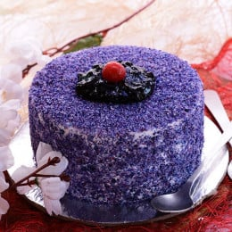 Velvety Blueberry Cake - 500 Gm
