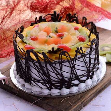 Fresh Fruit Cake - 500 Gm