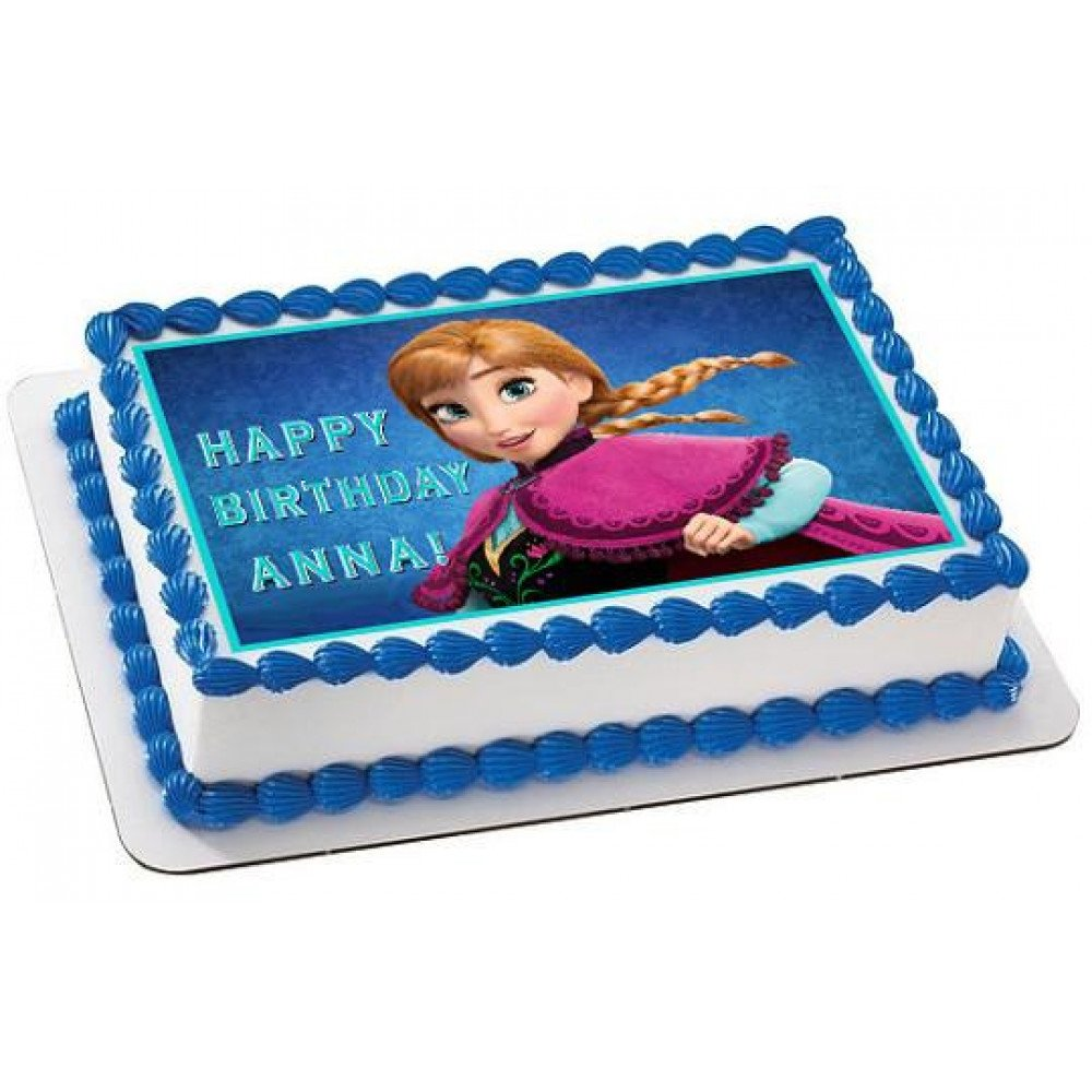 Incredible Rectangular Anna Cake 1 Kg Anna Photo Cake For Your Little Funny Birthday Cards Online Inifofree Goldxyz