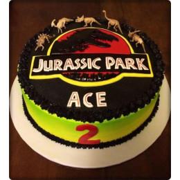 Jurassic Park Photo Cake-1 Kg