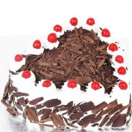 Heart Black Forest Cake-0.5 Kg
