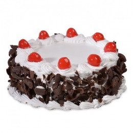Snowy Blackforest Cake - 500 Gm