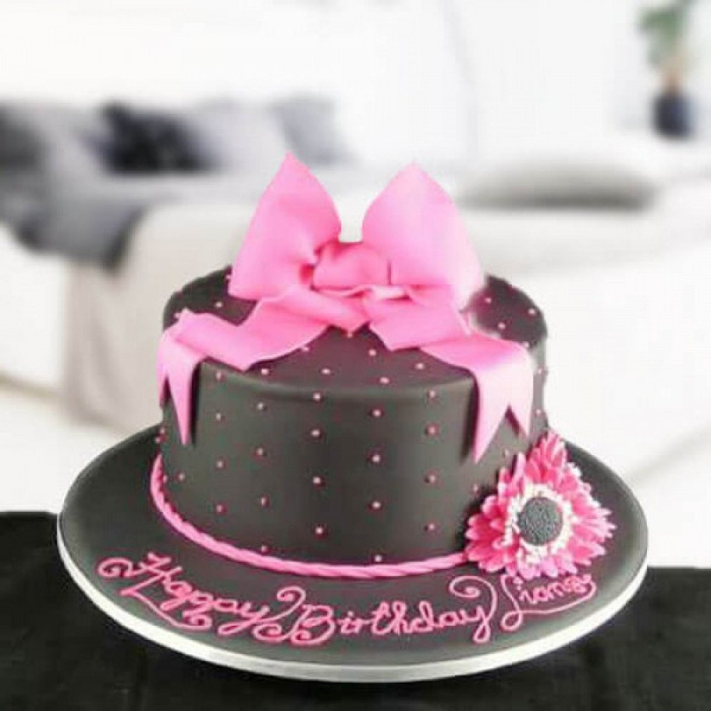 Peachy Chocolate Hat A Cake Designed Like A Beautiful Hat Complete With Personalised Birthday Cards Sponlily Jamesorg
