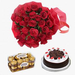 Ferrero And Cake Delight