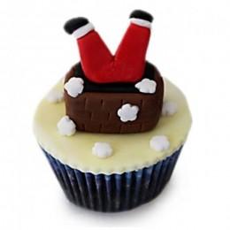 Falling Santa Cupcakes-set of 6