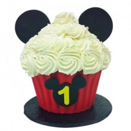 Mickey Mouse Floral Cupcake-set of 6