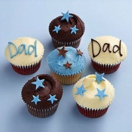 Twinkling Stars Cupcakes For Dad-set of 6