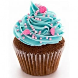 Blue Pink Fantasy Cupcakes-set of 6