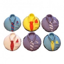 Designer Cupcakes For Dad-set of 6